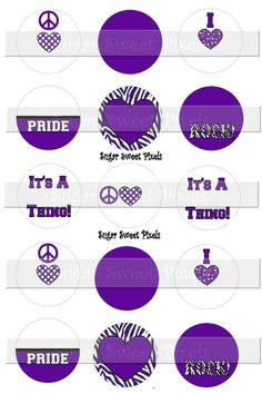 INSTANT DOWNLOAD Blank Purple White School  Team by sugarnspicebow