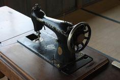 Vintage Singer sewing machine. Toyoma Education Museum, Miyagi, JPN.
