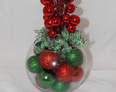 Christmas Centerpiece Set of Four Christmas by GlitterGlassAndSass