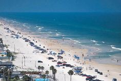 Whitest sand anywhere--in Florida!  Daytona, Florida  true...white and clean..great beach!
