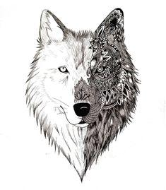 Arte WOLF de Larissa Firmino !! Disponível em camiseta e case de celular. Só na…