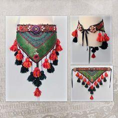 ATS Belt Hip Scarf Tribal Tassels Belt Tribal Belly Dance