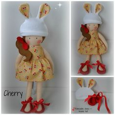17 Inch Modern Rag doll with removable party dress, felt shoes and cute beanie hat www.facebook.com/honeybeeforkids