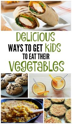 Parents know their kids need to eat vegetables every day, but it isn't always easy to convince the KIDS of that! Make it easy with these healthy recipes kids will love, like chicken wraps, fruit and veggie smoothies, butternut squach mac & cheese, pumpkin chocolate chip muffins, vegetable soup (disguised as chicken noodle!), stuffed bagels and lots of other sneaky and delicious ways to get more nutrition into your kids' diet.