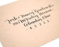 Wedding Calligraphy . Custom Envelope Addressing . Modern Script . Handwritten . Single Sample. $4.00, via Etsy.
