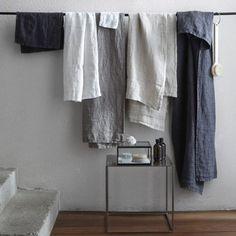 Maxi drap de douche en pur lin lavé Nida, Am.Pm