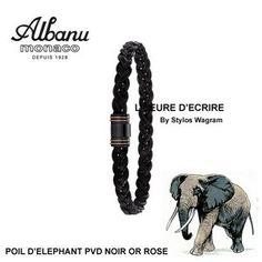 Bracelet Albanu Poils d'Elephant Tressé PVD et Or Rose 6mm