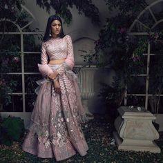 Saga Of Love - Falguni Shane Peacock Launches Their New Bridal Collection. - Tikli - India's Leading Fashion and Beauty Magazine Indian Wedding Outfits, Bridal Outfits, Indian Outfits, Eid Outfits, Bridal Gowns, Lehnga Dress, Bridal Lehenga Choli, Wedding Lehnga, Blue Lehenga