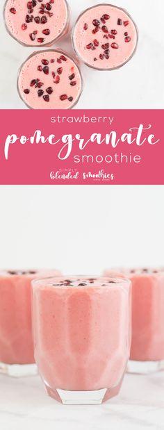 Strawberry Pomegranate Smoothie - smoothie recipes