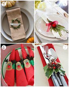 10 maneras de decorar servilletas en Navidad                                                                                                                                                      Más