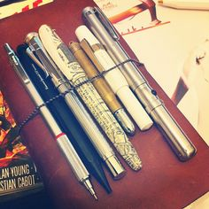 Rotring, Kaweco, Graf Von, Tradio, Traveler's notebook brass, Kaweco, green laser