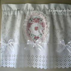 D licat brise bise cottage shabby roses anglaises for Rideaux cottage anglais
