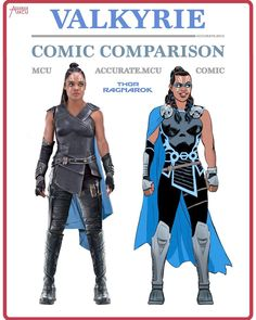 """8,373 Likes, 164 Comments - • Accurate.MCU • mcu fanpage (@accurate.mcu) on Instagram: """"• VALKYRIE - COMIC COMPARISON • Yes I know the comic one is based on the MCU version but it's still…"""""""