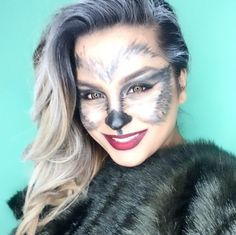 Looking for for inspiration for your Halloween make-up? Browse around this website for creepy Halloween makeup looks. Creepy Halloween Makeup, Pretty Halloween, Scary Makeup, Halloween 2018, Easy Halloween, Couple Halloween, Costume Halloween, Fox Makeup, Animal Makeup