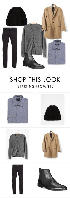 """casual black jeans and chelsea boots men"" by lo-larsen on Polyvore featuring Saks Fifth Avenue, ASOS, Gap, Banana Republic, Paul Smith and Alfani"