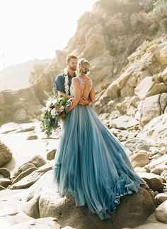 We're pretty excited to share this beautiful, aqua blue waterfront wedding with you all today! The whimsical wedding in Malibu features so many unique and special elements; wedding dresses color Aqua Blue Waterfront Wedding in Malibu - Inspired By This Blue Wedding Dresses, Wedding Colors, Wedding Styles, Unique Colored Wedding Dresses, Light Blue Wedding Dress, Ombre Wedding Dress, Blue Beach Wedding, Unconventional Wedding Dress, Wedding Ideas