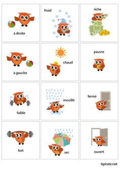 French Flashcards, French Worksheets, French Teaching Resources, Teaching French, French Language Lessons, French Lessons, French Teacher, French Class, Speech Language Pathology
