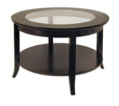 WINSOME WOOD ROUND COFFEE TABLE, ESPRESSO  - Click image twice for more info - See a larger selection of  glass coffee tables at http://zcoffeetables.com/product-category/glass-coffee-tables/ - home, home decor, home ideas, home furniture, office furniture, table, gift ideas, living room,