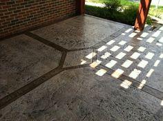 Decorative Concrete Patio | cfa-online.com Concrete Patios, Concrete Slab, Stamped Concrete, Outdoor Flooring, Flooring Ideas, Patio Ideas, Yard Ideas, Lima Ohio, Concrete Contractor