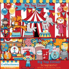 Big Top Circus by CraftBliss. Visit www.craftbliss.com for freebies and fun. #craftbliss