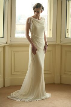 figure flattering wedding gown