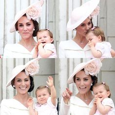 June 11, 2016: Catherine, Duchess of Cambridge is shown holding her daughter Princess Charlotte on the balcony of Buckingham Palace during the Trooping the Colour.