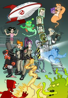 Futurama/Ghostbusters by Jason Welborn
