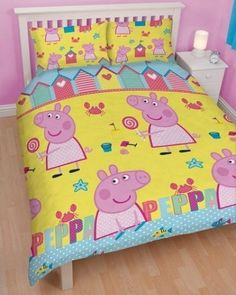 Peppa Pig 'Seaside' Reversible Double Duvet-Cover With Pillowcase Rotary, http://www.amazon.com/dp/B00DTT9C8U/ref=cm_sw_r_pi_awd_52pesb1TKM4HZ
