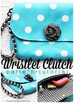Clutch Handbag Sewing Pattern and Tutorial - These would make such perfect gifts!