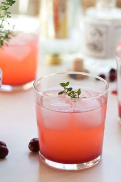 Cranberry Thyme Gin and Tonic  - GoodHousekeeping.com