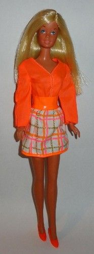 Vintage Barbie Doll Outfit Clothing Complete Tangerine Scene 1451 Shoes | eBay