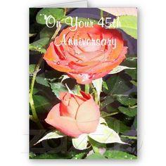 A Happy 45th Wedding Anniversary Card Roses #45th #wedding #anniversary