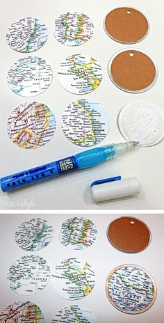 {seaonal style} Travel Map Christmas Ornaments + More Than 35 Other Ideas to Trim Your Tree | Blue i Style