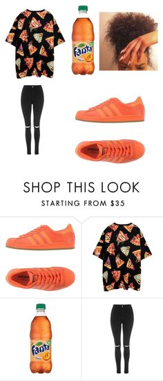 """pizza pizza"" by jataejaherring ❤ liked on Polyvore featuring adidas Originals, Joyrich and Topshop"
