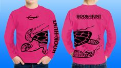 We even carry our UPF 40, moisture wicking shirts in YOUTH sizes. Hot pink sea turtle wrap, performance shirt, also comes in neon yellow. Logo's on front, back and sleeve. Made in the USA. Please like & share us on facebook. http://facebook.com/hookandhuntoutdoor