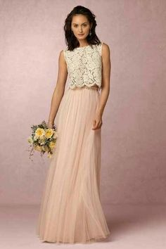 BHLDN is Anthro's wedding line. This is where I ordered my dress for Katie's wedding, and I'll be able to wear it beyond just her wedding. The two piece idea is great.
