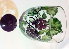 GRAPE & SWIRL GLASSES - BFF GRAPE WINE GLASS - The Painted Flower (Powered by CubeCart) - BFF GRAPE WINE GLASS