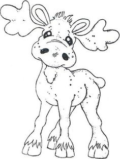 Turning Leaves 2012 - Walter The Moose Christmas Coloring Pages, Coloring Book Pages, Coloring Sheets, Christmas Colors, Christmas Art, Moose Crafts, Christmas Drawing, Christmas Embroidery, Magnolias