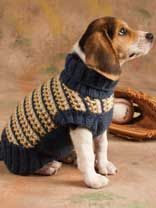 Slip-Stitch Style Dog Sweater and 399 other free patterns - if you join now...