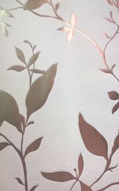 Parati floreale foglie lucido argento e verde effetto specchio a rilievo A134TO WE