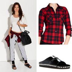 Ein lässiges Outfit fürs Wochenende oder den Casual-Friday in der Schule, Uni und Co. - The Plaid Shirt und JAELL <3