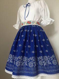 Dámsky folklórny komplet sa skladá z blúzky z bavlnenného popelínu, sukne s bordúrou zdobenej krajkou a folklórneho opaska. V ponuke mám viacero farieb a vzorov. Prípadne ušijem podľa vaších preds... Waist Skirt, High Waisted Skirt, Skirts, Clothes, Health, Style, Fashion, Wedding, Embroidery