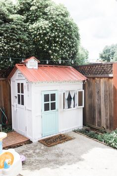 A diy children's playhouse. I had so much fun filling up the house with items I thought she would enjoy. Pretend kitchen, paints, toys etc...