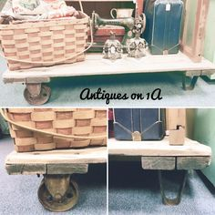 Vintage industrial cart Vintage Industrial, Entryway Tables, Cart, Antiques, Furniture, Home Decor, Covered Wagon, Homemade Home Decor, Antiquities