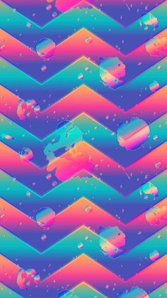 Chevron Wallpaper, Colorful Wallpaper, Colorful Backgrounds, Phone Backgrounds, Wallpaper Backgrounds, Iphone Wallpapers, Turquoise Art, Antique Roses, Vaporwave