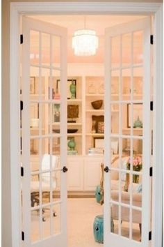 french doors would be perfect to use for a second bedroom turned walk in closet/ get ready room.