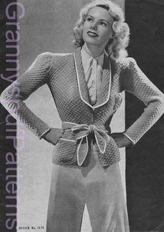 1940s Vintage PDF Knitting Patterns - PDF Copy of Sun-glo Knitting Booklet Series 20 on Etsy, £2.82