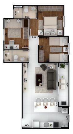 Mi futura Casa it is fantastic Sims House Plans, House Layout Plans, Dream House Plans, Modern House Plans, House Layouts, Small House Plans, House Floor Plans, 2 Bedroom House Plans, Apartment Floor Plans
