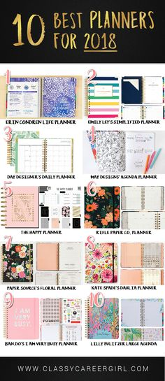 It's that time of year to shop for a planner for the new year. Here are our top picks for best planners of 2018 to plan out an amazing 2018!
