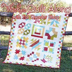 Start of the Wishes Quilt Along hosted by Fat Quarter Shop and @Ann Lee Moda Fabrics United Notions to benefit the Make-A-Wish America Foundation. To watch the informational video and see all the wonderful upcoming Block of the Month patterns please visit http://fatquartershop.blogspot.co.uk/p/wishes-quilt-along.html